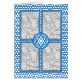 ADD YOUR OWN PHOTOS - Hanukkah - Star of David Greeting Cards