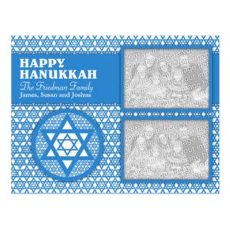ADD YOUR OWN PHOTOS - Hanukkah - Star of David Postcard