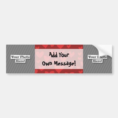 Add Your Own Photos  Pattern Bumper Sticker