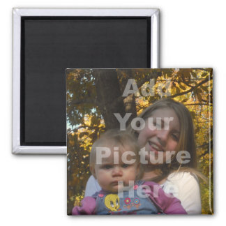Add Your Own Picture Collection 2 Inch Square Magnet