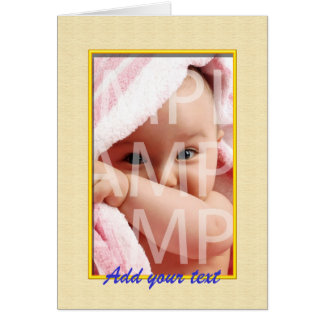 Add your own picture, your own words card