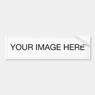 Add your own pictures and text to 100s of products bumper sticker