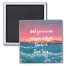 Add Your Own Quote Or Text Custom Personalized Magnet