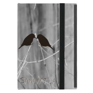 Add Your Own Text Barn Wood and Birds Silhouette Case For iPad Mini