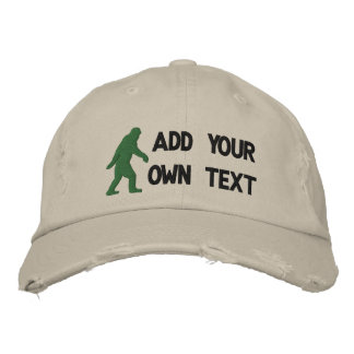 Add your own text, Bigfoot logo Embroidered Baseball Cap