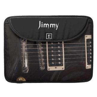 Add Your Own Text Black Grudge Electric Guitar Sleeve For MacBook Pro