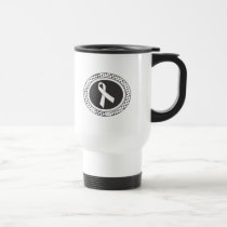 Add Your Own Text Bone Cancer Awareness Travel Mug