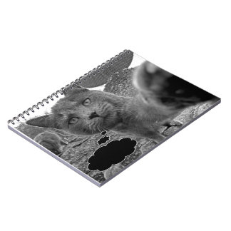 Add your own text Cat Notebook