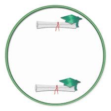 Add Your Own Text Green Graduation Sticker sticker