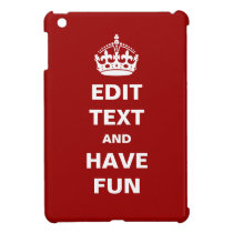 Add your own text here! case for the iPad mini