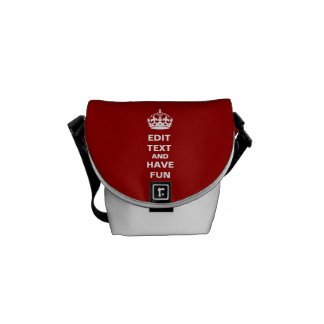 Add your own text here! courier bag