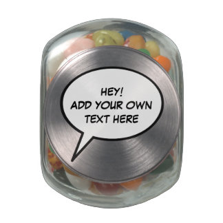 add your own text here glass candy jar