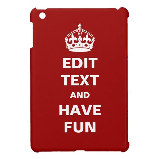 Add your own text here! iPad mini case