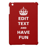 Add your own text here! iPad mini cover