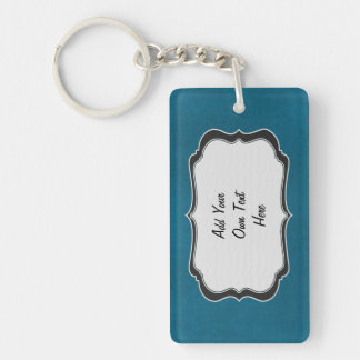 Add Your Own Text Here Rectangle Acrylic Keychain