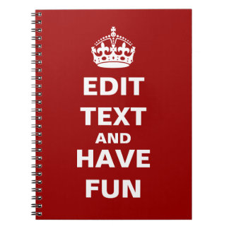 Add your own text here! spiral notebook