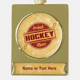Add Your Own Text Hockey Mom Holiday Ornament