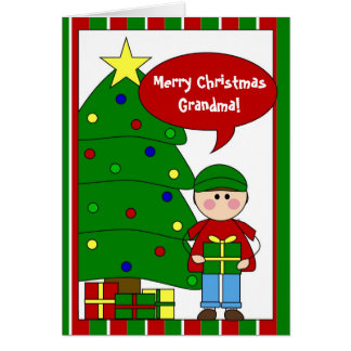 add your own text holiday card (boy)