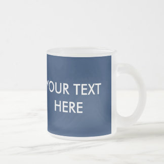 ADD YOUR OWN TEXT & PHOTO FROSTED GLASS COFFEE MUG