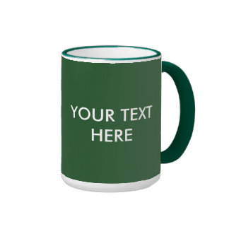 ADD YOUR OWN TEXT & PHOTO RINGER MUG