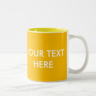 ADD YOUR OWN TEXT & PHOTO Two-Tone COFFEE MUG