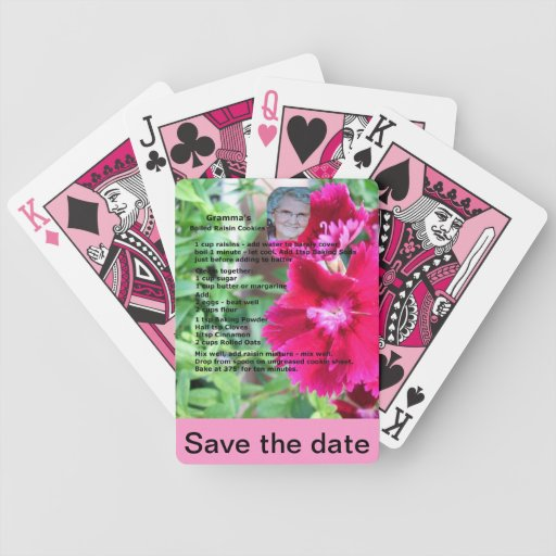 Add your own text Recipe Playing Cards