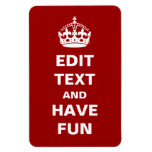 Add Your Own Text Rectangular Photo Magnet