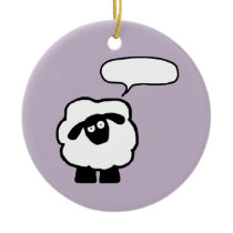 Add Your Own Text Sheep Ornament