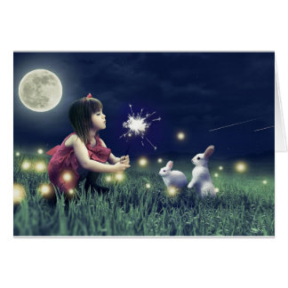 Add Your Own Text: Summer Night Wishes Card