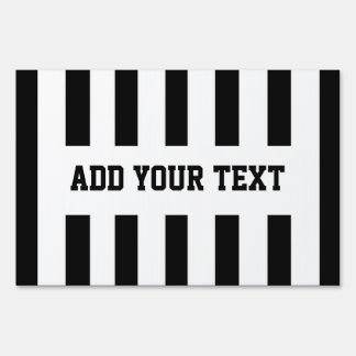 Add Your Own Text to Referee Design Sign