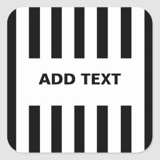 Add Your Own Text to Referee Stickers Square Sticker