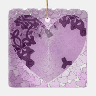 Add your own Text to this Heart with love message Ceramic Ornament