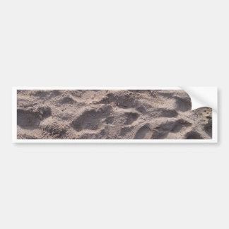 Add your own text, writing in sand, sunny beach bumper sticker
