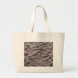 Add your own text, writing in sand, sunny beach large tote bag