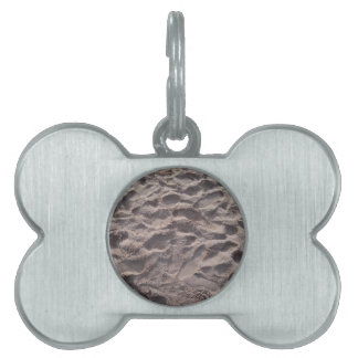 Add your own text, writing in sand, sunny beach pet name tag