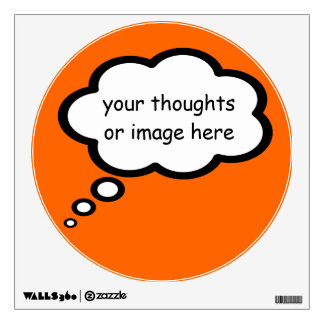 add your own thoughts wall sticker