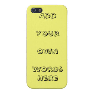 Add your  own words, design your own iPhone SE/5/5s case