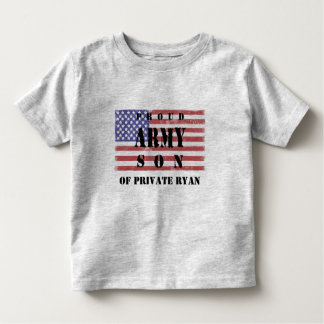 Add Your Parent's Name Proud Army Son Shirt