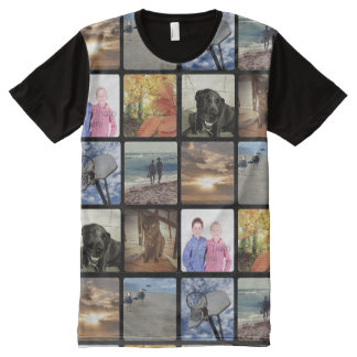 Add Your Personalized Photo Collage Print All Over All-Over Print Shirt
