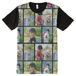 Add Your Personalized Photo Collage Print All Over All-Over-Print T-Shirt