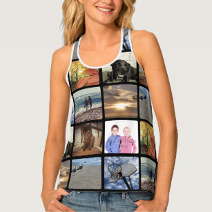 8bc6520d663327 Add Your Personalized Photo Collage Print All Over Tank Top