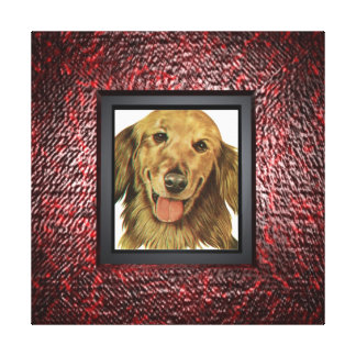 Add your pet photo to frame stretched canvas print