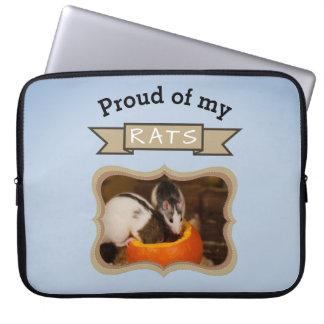 Add Your Pet Rats Photo Rat Laptop Sleeve