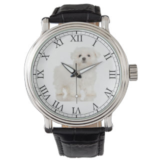Add Your Pet's Photo Cute Dog Picture Maltese Watch