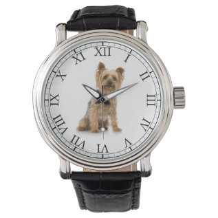 Add Your Pet's Photo Cute Dog Picture Wrist Watches at Zazzle
