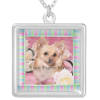 Add your Pet's photo Square Pendant Necklace