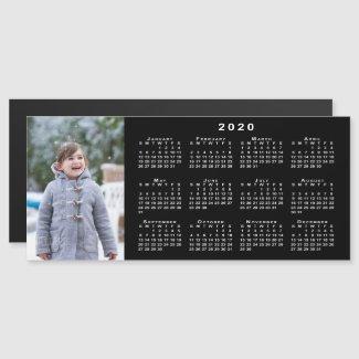 Add Your Photo 2020 Calendar on Black