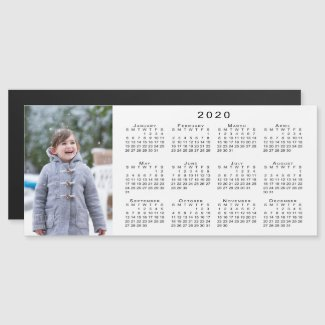 Add Your Photo 2020 Calendar on White