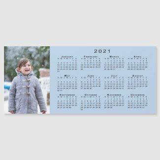 Add Your Photo 2021 Calendar on Light Blue
