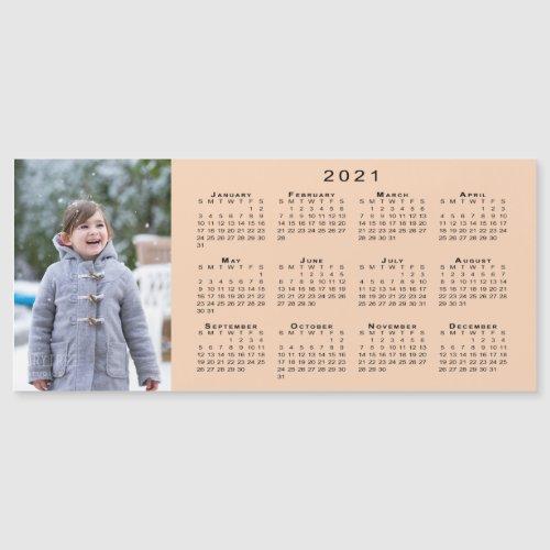 Add Your Photo 2021 Calendar on Peach